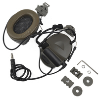 Z Tactical Softair Aviation Headset Headphone Comtac ii Headset for FAST Helmets and Peltor Helmet Rail Adapter Set