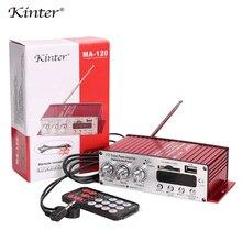 Kinter MA-120 Hi-Fi Цифровой усилитель выходной мощности Поддержка USB SD AUX вход и FM радио воспроизведение стерео звук Входное напряжение DC12V