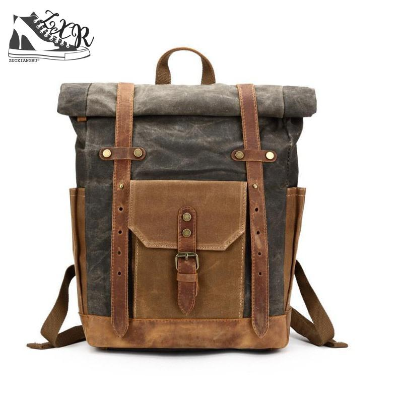 Vintage Military Backpack Male Travel Bag Large Capacity Waterproof Backpack School Shoulder Bagpack Canvas Men Casual Daypacks meiyashidun men backpack casual chest bag multifunctional molle military backpack shoulder bags travel bagpack school rucksack
