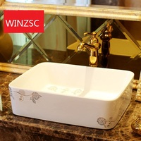 Above counter basin square washbasin washbasin ceramic sanitary art basin LO621212