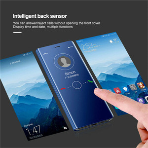 Image 4 - For OPPO F5 F7 F9 F11 Mirror Flip Leather Case for A3S A5 A5S A7 AX5 A11X A9 2020 Reno Z 2Z 2F Realme 3 5 C2 A1K Ace X2 Pro
