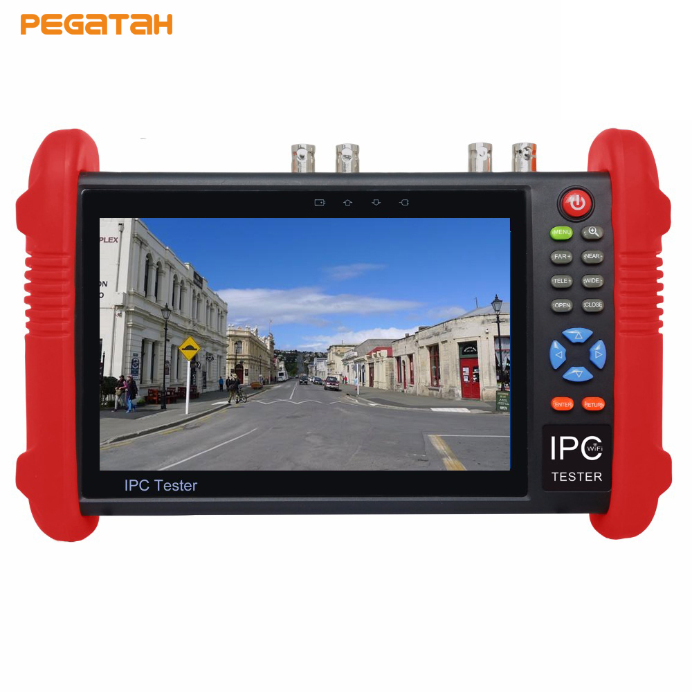 New 7 inch 5MP AHD IP Camera tester TVI CVI AHD IP CCTV tester Support 8MP TVI CVI 5MP AHD test wifi POE Out security camera