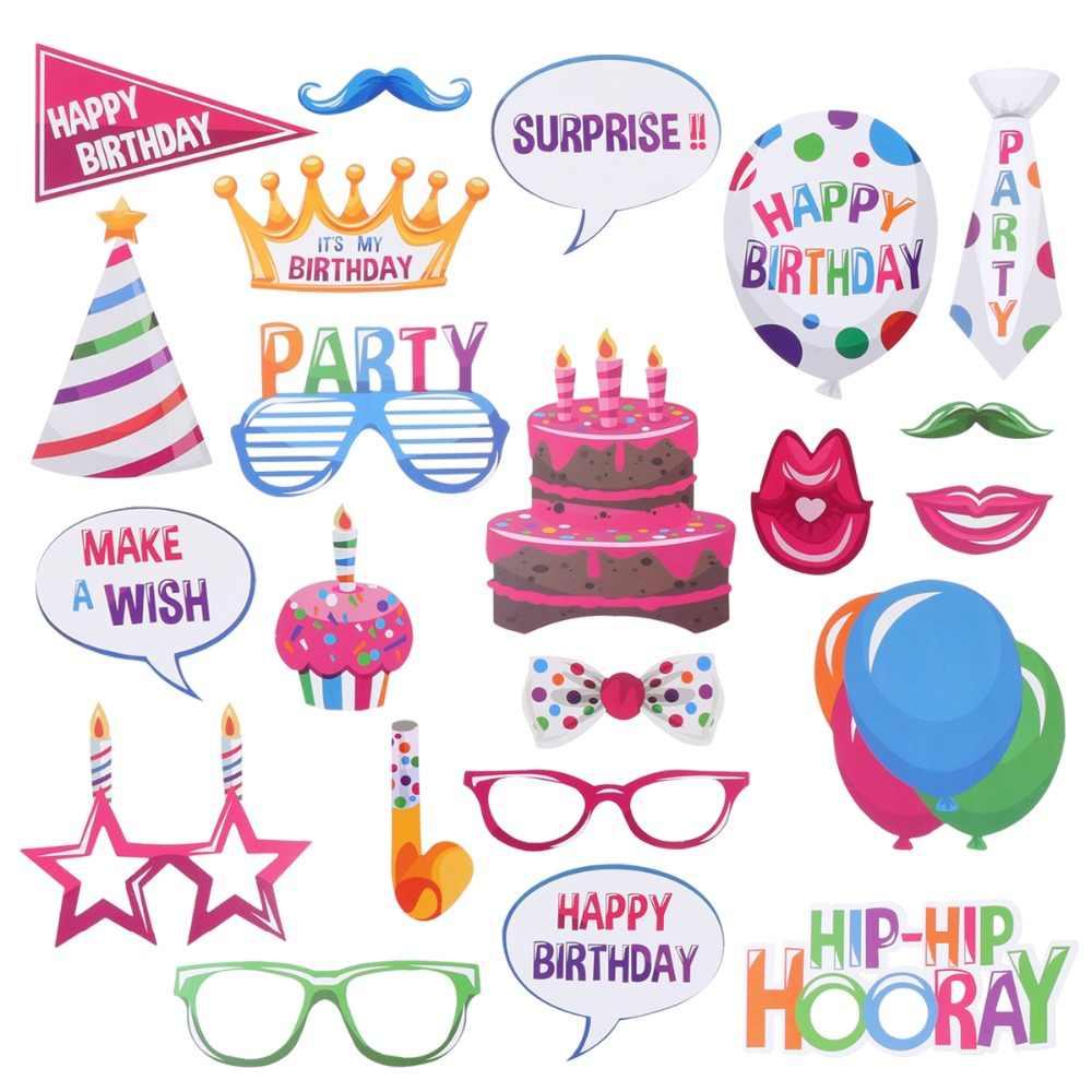 Счастливый день рождения реквизит для фотосессии смешная маска для вечеринки фотобудка для Гавайских свадеб день рождения забавные штуковины
