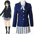 Аниме K - на Hirasawa юи накано азуса акияма Mio хэллоуин косплей костюмы зима школьная форма для женщин девушки QM003