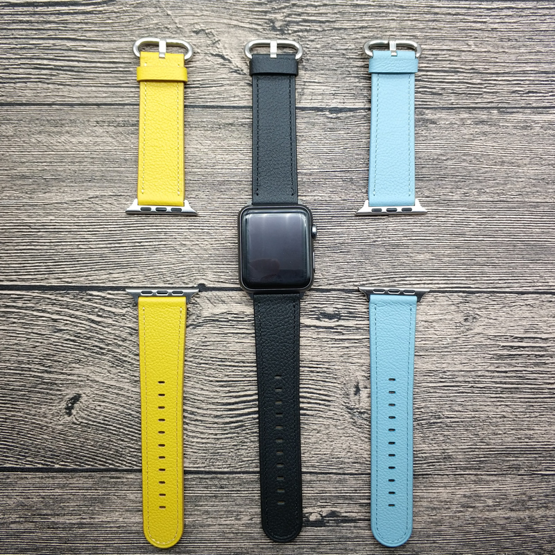 Watch Strap For Apple Smart Watch Lovely Colorful Leather Wrist Band For Apple Watch Band Series 1 2 3 iWatch Wrist Belt 38-42mm