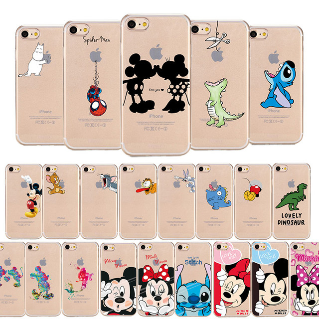 38e11965ba Cartoon Mickey Minnie Mouse & Friends Soft TPU Silicone Clear Phone Case  For Apple iPhone 6 6s 6Plus 5 5s Se 8 X for iPhone 7 Cases Coque
