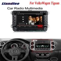 Liandlee 2 din Car Android For VolksWagen VW Tiguan 2007~2013 GPS Navi Navigation Radio TV CD DVD Player Audio Video Stereo OBD2