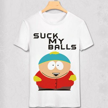 South Park T Shirt New York Geek Funny Design T-shirt Stan Marsh Kenny suck my ball Diy Cartoon Short Tee classic anime T shirt