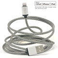 8 x Pack [MFi Certified] Cacoy 2M for Lightning to USB Cable Braided Charging Long Cord with Metal USB Casing for iPhone 6s 6
