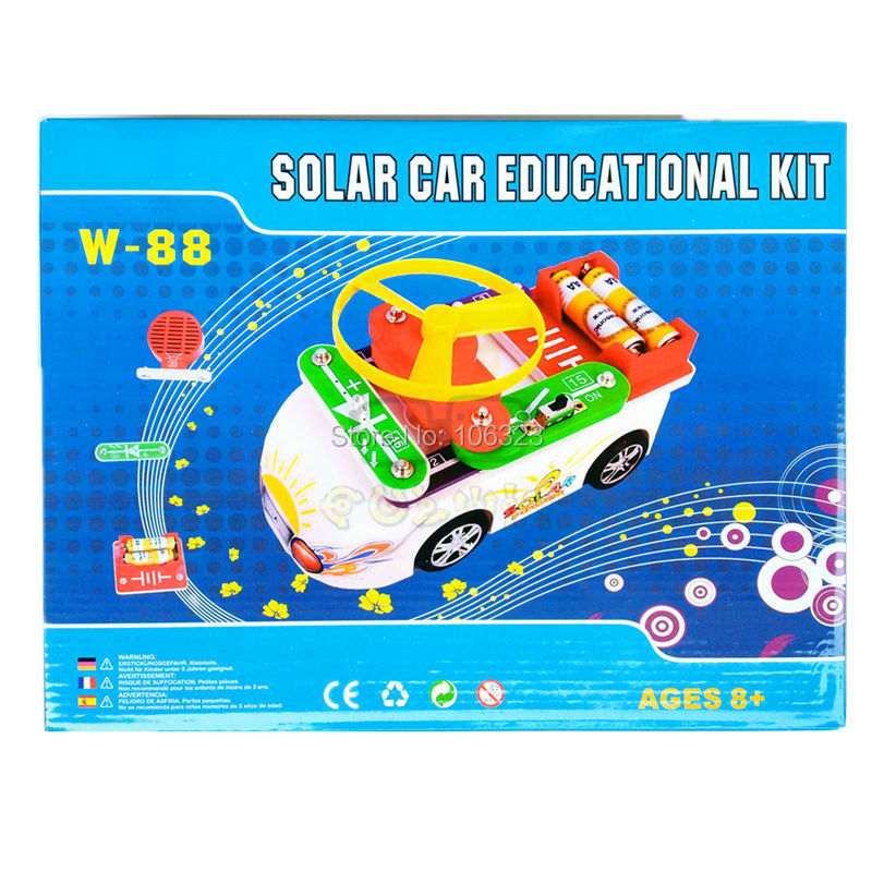 Teacher Wang W-88 New Creative Solar Car Educational Kit, 88 in 1,Child Toy Vehicles, Kid Assemble Solar and Electric Power Toys вентилятор awenta kw100 б панели