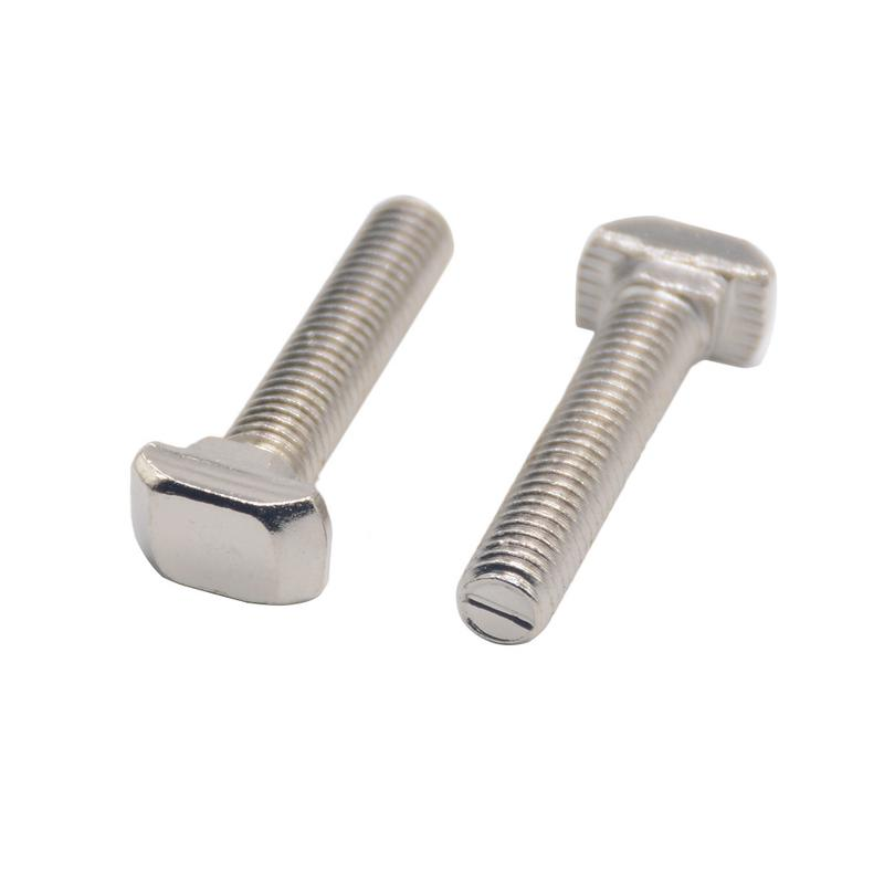 HotSale CNC 3D Printer Parts 3030 Type T Screw T Bolt Screw For European Standard Anodized 3030 Linear Rail Aluminum Profile