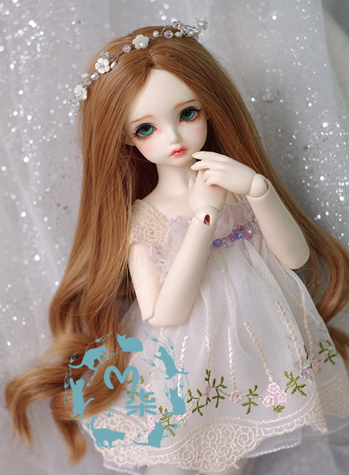 New 7-81/4 BJD Wig MSD Hair Dollfie DREAM Luts AOD Dod DZ Brown Long Wavy WIG lovely animal pajamas animal outfit for bjd doll 1 6 yosd super dollfie luts dod as dz doll clothes al4