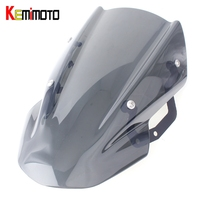 KEMiMOTO Windscreen Windshield For Kawasaki Z650 Z 650 2017 Headlight Cover Wind Screen For Kawasaki Z650