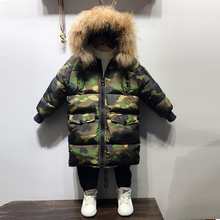 Camouflage  Boys Winter Jacket  warm thickness coats   hooded  Jongens Winterjas Boys Winter Jacket недорого