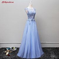 Sky Blue Lace Mother of the Bride Dresses for Weddings Long Evening Gowns Beaded Bridal Formal Godmother Groom Long Dresses