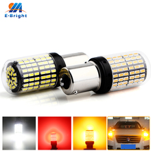 все цены на 2 pcs 3014 144 SMD 21W T20 7440 W21W 1156 BA15S P21W BAU15S PY21W 3156 Canbus NO ERROR Led Bulbs For Turn Signal Light NO Flash онлайн