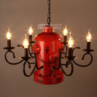 Vintage Fire Hydrant Column Loft Corridor Cafe Lamp Chandelier Ceiling Hanging Light Club Droplight Decor