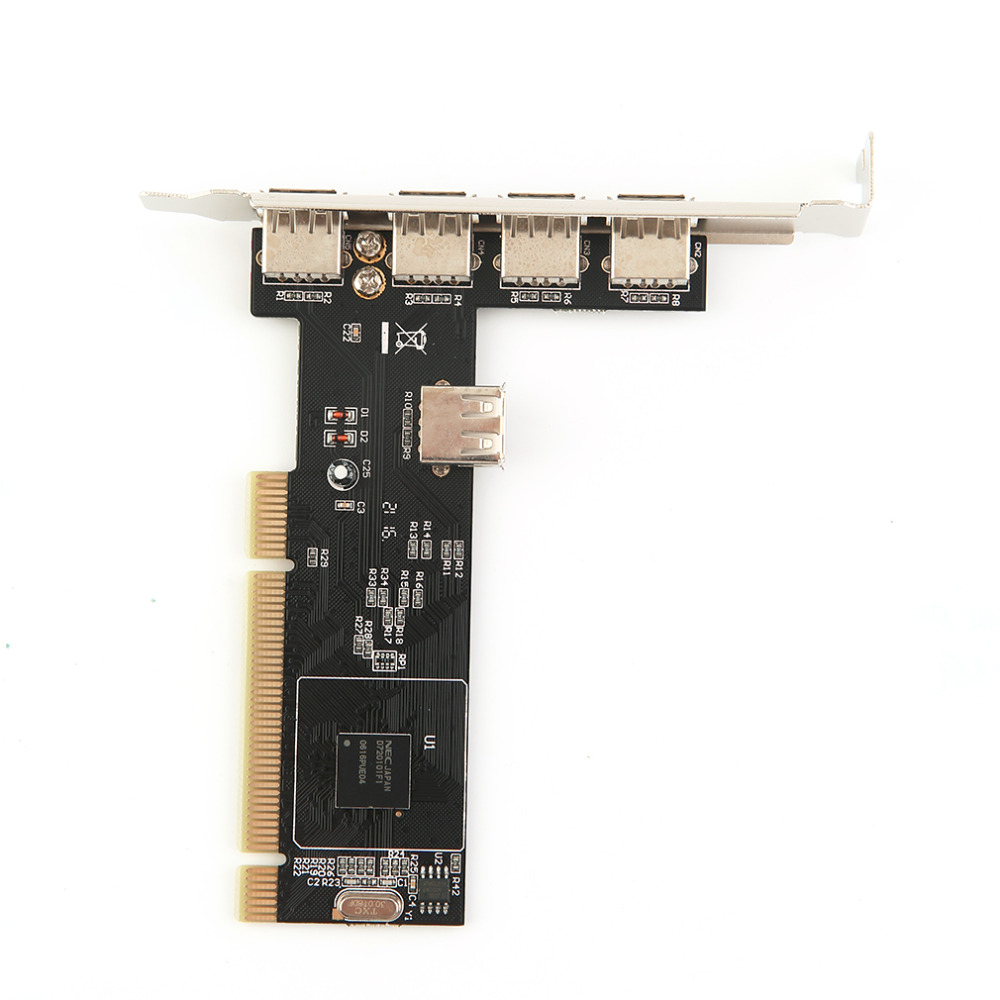 5 Ports USB 2.0 USB2 <font><b>PCI</b></font> Card Controller Adaptor Converter for NEC New Wholesale Store image
