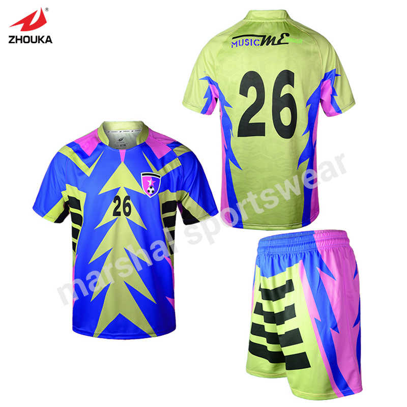 Mixcolor blue dry-fit all sublimation custom soccer shirts china  manufacturer wholesale custom men t fb1640406