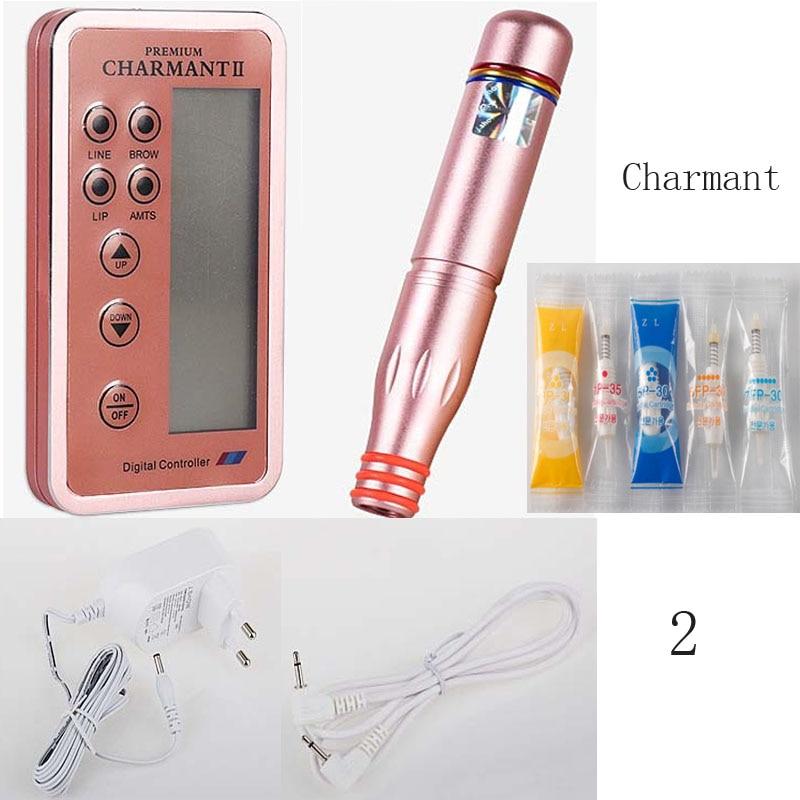 Dermografo Charmant II Digita Profissional Micro Pigmentacao Charmant Agulhas Easy Click 1/3/5RL 5/7Flat Catriage
