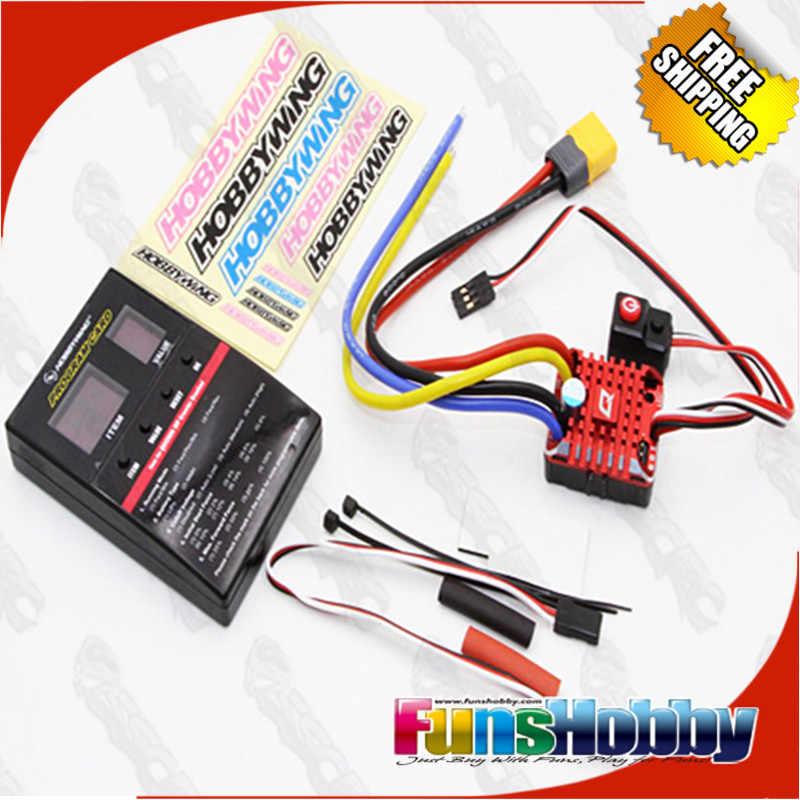 Hobbywing QuicRun 1:10 1/8 WP гусеничная щетка матовая 80A электронный регулятор скорости водонепроницаемый ESC с программным ящиком светодиодный BEC XT60