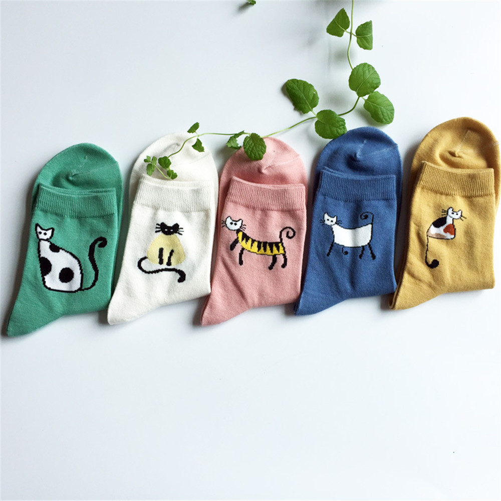 Fashion Women Socks 3D Cat  Cartoon Women Lovely Cat Footprints Funny Cute Soft Cotton Floor Cute Socks for Female cosplay