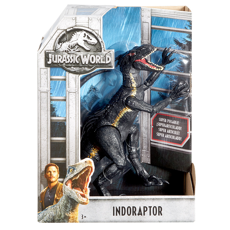 Action Figures 21CM Length Jurassic Dinosaur World Indoraptor Active Dinosaurs Toy Classic Toys For Boy Children Animal Model цена
