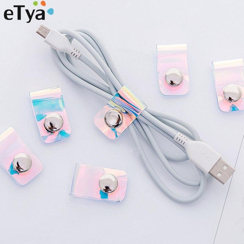 100% QualitäT Etya Frauen Männer Nette Pvc Laser Kabel Kopfhörer Protector Usb Linie Telefon Halter Reise Zubehör Verpackung Organisatoren