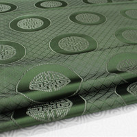 CF155 1 Yard 73cm Green Antique Silk Fabric Chinese Style Brocade Jacquard Fabric For Men Tang