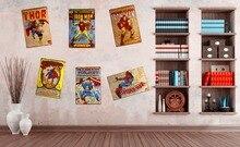 Super hero! Metallblechschilder Kaffee Pub Kunst Poster Vintage Plaque Wand Cafe Weißblech Wanddekor
