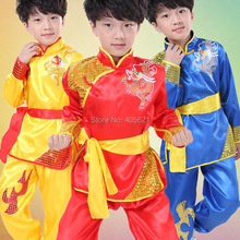 20set/lot Chinese Dragon Totem Tai Chi Kung Fu Martial Arts Children's Dancewear Performance Clothes Stage Costume 110cm-160cm