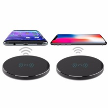 Ultra-thin Qi Wireless Fast Charging Pad for iPhone X 8 Plus Samsung Galaxy S6 S7 S8 Note 8