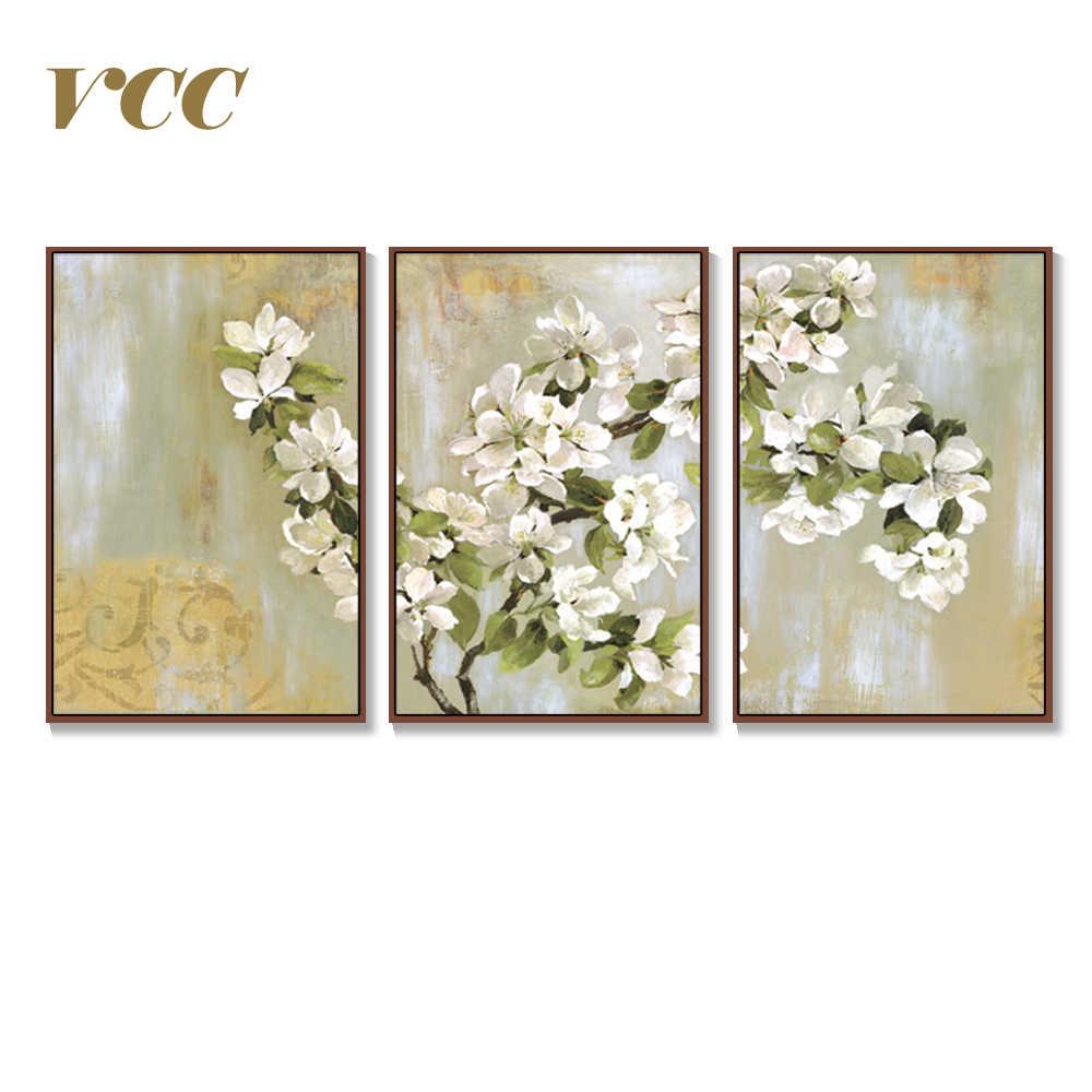 Wand Kunst Leinwand Malerei Dekorative Bilder Apple Blume Bild Wand Bilder Für Wohnzimmer Poster Wohnkultur