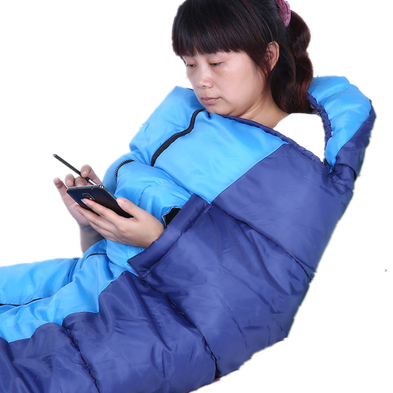 Adult sleeping bag outdoor thickening warm helmet sleeping bag ultra light lunch break camping sleeping bag цены