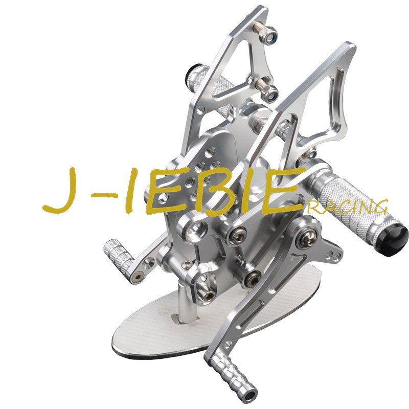CNC Racing Rearset Adjustable Rear Sets Foot pegs Fit For Yamaha YZF R3 R25 2014 2015 SILVER cnc aluminum motorcycle accessories rearset base foot pegs rear for yamaha yamaha yzf r3 yfz r3 mt 03 mt03 mt 03 2015 2016