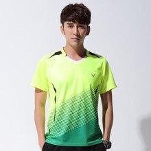 Новая спортивная одежда быстросохнущая дышащая рубашка для бадминтона для женщин/мужчин рубашка для настольного тенниса одежда командная игра футболки с коротким рукавом M-4XL