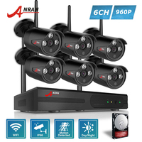 ANRAN Plug And Play P2P 8CH NVR Wireless CCTV System 6PCS 960P HD H 264 Mini