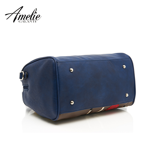 AMELIE GALANTI 2017 new fashion retro bag handmade embroidery car and girl portable single shoulder bag women bag free shipping