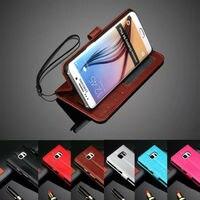 Para Samsung Galaxy S5 S6 S7 Edge Mini Con Marco de Fotos de Estilo de Negocios de Lujo de LA PU Cartera de Cuero Cubierta de la Caja Del Teléfono