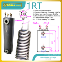 13000BTU/3.81KW Titanium heat exchanger for water cooled air conditioners with chlorinated swimming pool