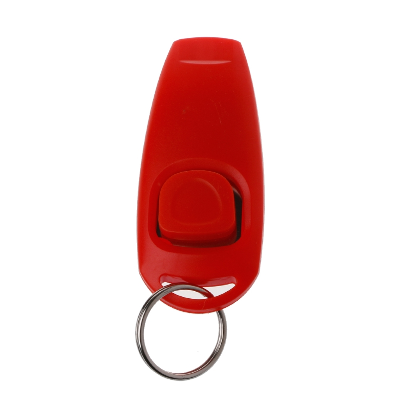Dog Training Whistle Clicker Trainer Aid Guide Key Chain For Dog Supply