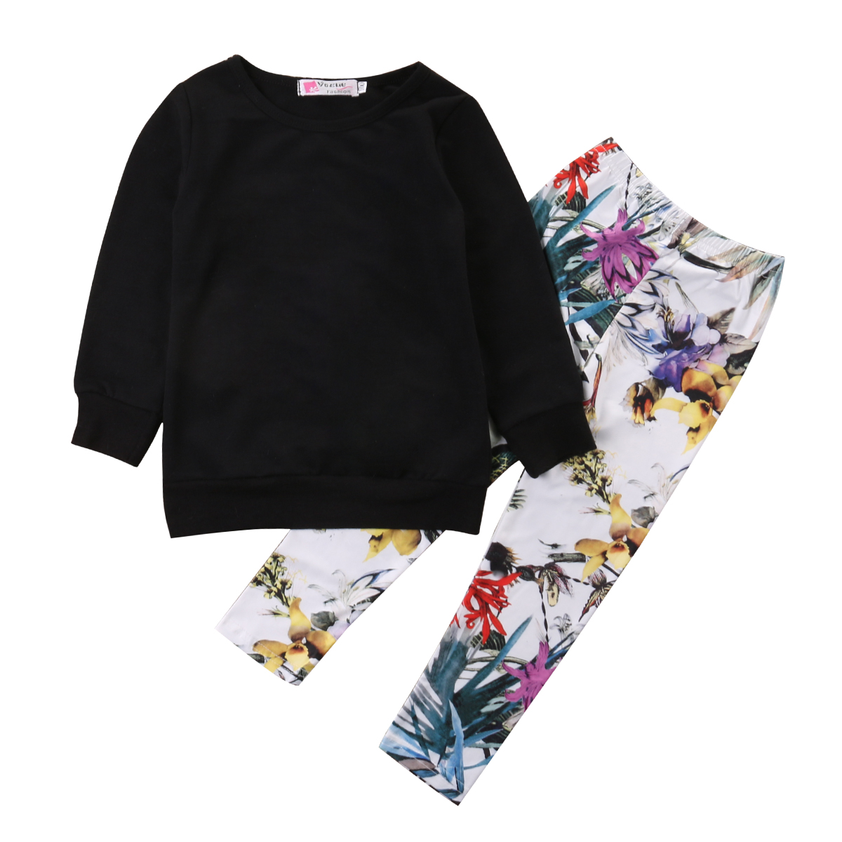 Toddler Kids Baby Girls Clothes T-shirt Tops + Floral Leggings Pants 2PCS Outfits Set