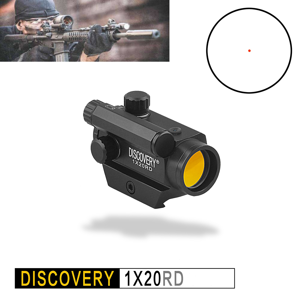 DISCOVERY OPTICS Mini 1x20 Tactical Hunting Scopes Rifle Reflex Sight 3 Red Dot Shockproof Shot w 7 classic flip open pu leather case w stand for huawei y300 white