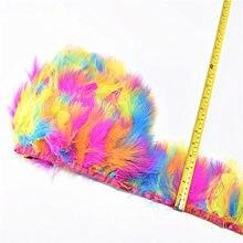 Натуральный окрашенный Пушистый Марабу перо украшение лентами 5-10yard 8-10 см DIY цветные фазаны Декор Перья для ремесел