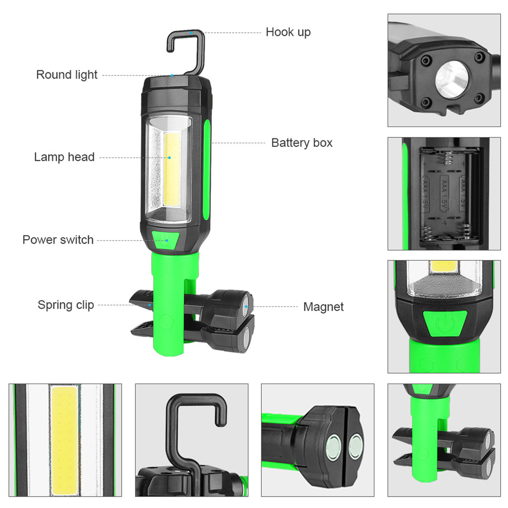 HTB18Ml2av1G3KVjSZFkq6yK4XXai - Flashlights Multifunction Portable COB Lamp Work Light Lamp Flashlight Torch Magnetic Hot Shock Resistant
