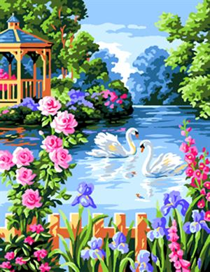 latest Swan Lake Landscape DIY Oil Painting Arrival Frameless By Numbers Acrylic Painting Unqiue Decoration Wall Art Gifts