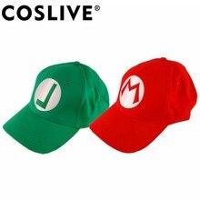 Coslive Venta de liquidación de gorra de béisbol Anime Super Mario sombrero  Luigi Bros Cosplay traje Accesorios Sombrero de algo. 97e86bd4cce
