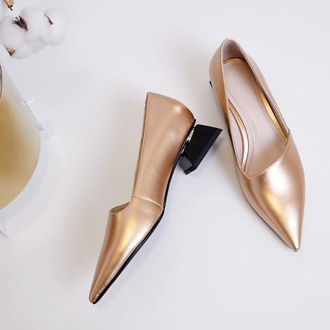 ALLBITEFO fashion pointed toe thick heel women shoes brand high heels party women shoes spring office ladies shoes size:33-43 Islamabad