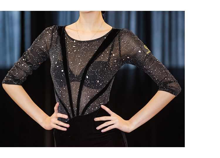 f37cddaad983 ... transparent latin dance dress for practice women latin salsa dress  modern dance costumes latin dress dance