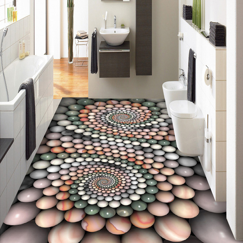 beibehang Custom Mural 3D Stereoscopic Creative Wallpaper Living Room Bedroom Bathroom Floor PVC Self-adhesive Wallpaper Sticker abstract mural wallpaper customize living room bathroom 3d flooring bedroom pvc self adhesive wallpaper